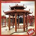 prefab outdoor garden aluminum gazebo pavilion pagoda gloriette manufacturers 4