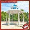 outdoor garden wood look aluminum metal pavilion pagoda gloriette kiosk 6