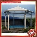 中式园林公园铝合金铝制仿木纹四角六角八角遮阳挡雨凉亭子 5