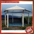 hot sale wood look style metal alu aluminum pavilion gazebo canopy awning