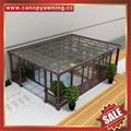 China sunroom alu aluminum glass sun house room sunrooms manufacturer factory 5