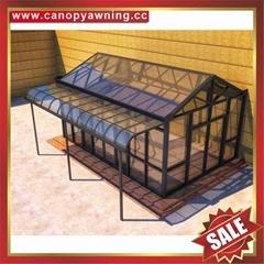 Prefabricated aluminum alloy metal glass house sunroom for villa cottage
