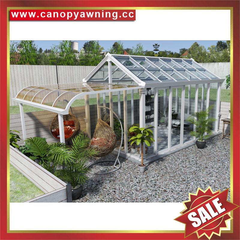 坚固耐用欧式中式豪华钢化玻璃金属铝合金露台阳光房温室屋 5