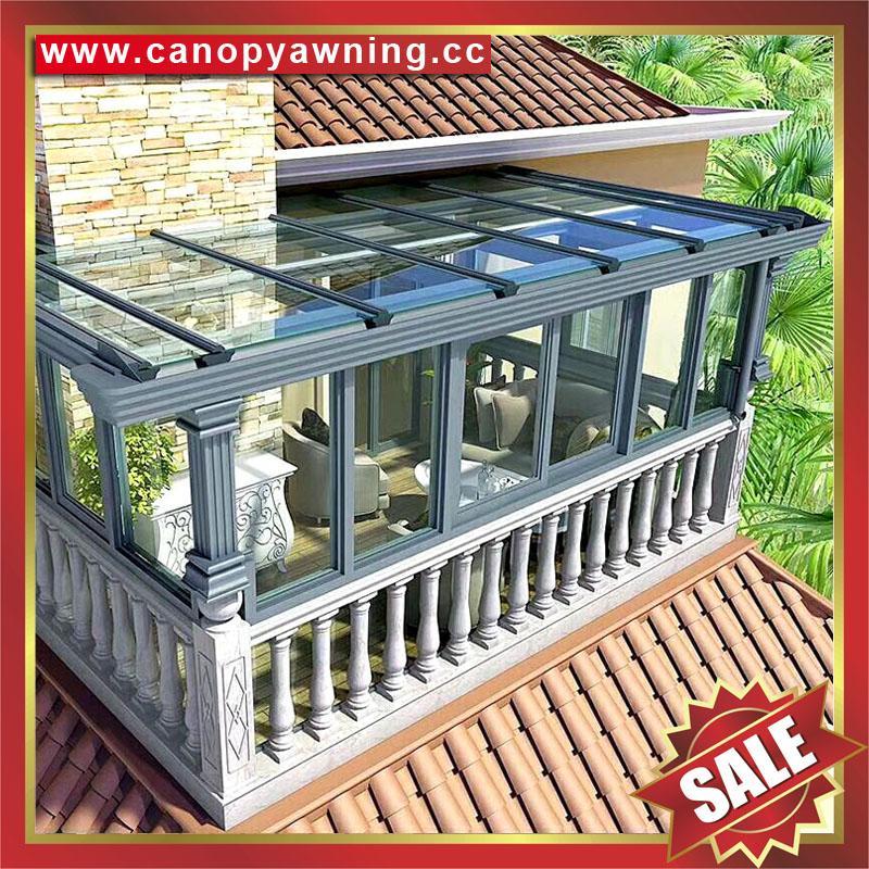 中式仿实木纹采光透光铝合金铝制玻璃透明阳光房温室屋 3