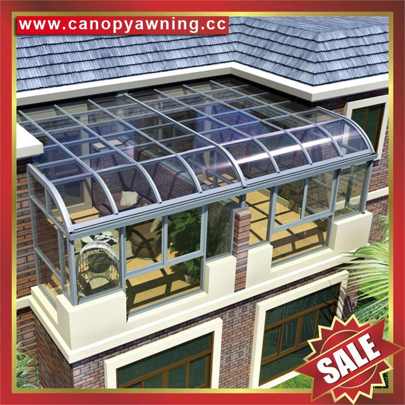 中式仿实木纹采光透光铝合金铝制玻璃透明阳光房温室屋 4