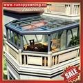 中式仿实木纹采光透光铝合金铝制玻璃透明阳光房温室屋 5