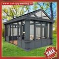 Prefab modern aluminium alloy tempered glass house sun room for villa cottage