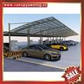 outdoor sunshade alu aluminum pc polycarbonate park car canopy shelter carport 2