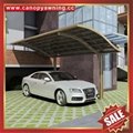 outdoor sunshade alu aluminum pc polycarbonate park car canopy shelter carport 3