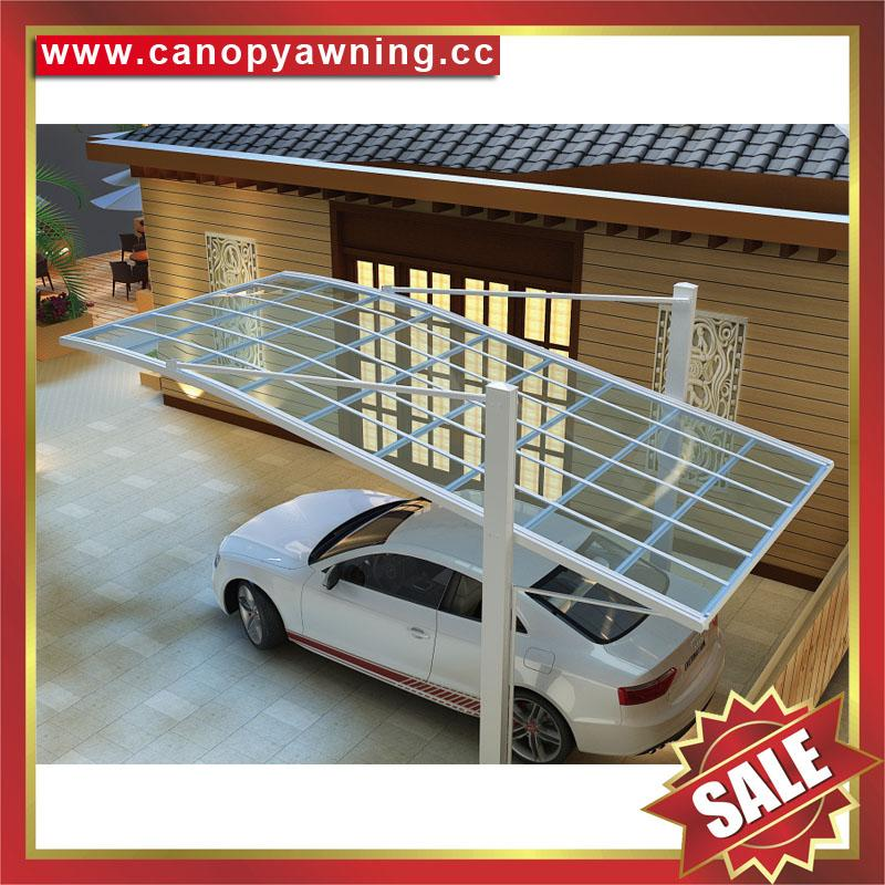 outdoor sunshade alu aluminum pc polycarbonate park car canopy shelter carport 4