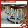 别墅公寓酒店铝制铝合金属防晒挡雨遮阳耐力板汽车棚蓬篷 4