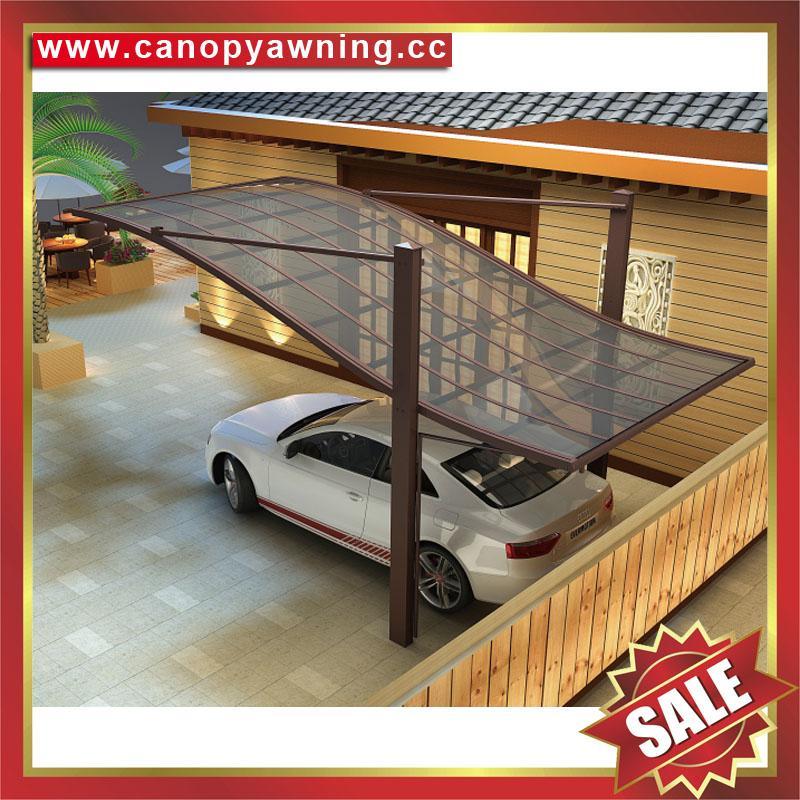 别墅公寓酒店铝制铝合金属防晒挡雨遮阳耐力板汽车棚蓬篷 5
