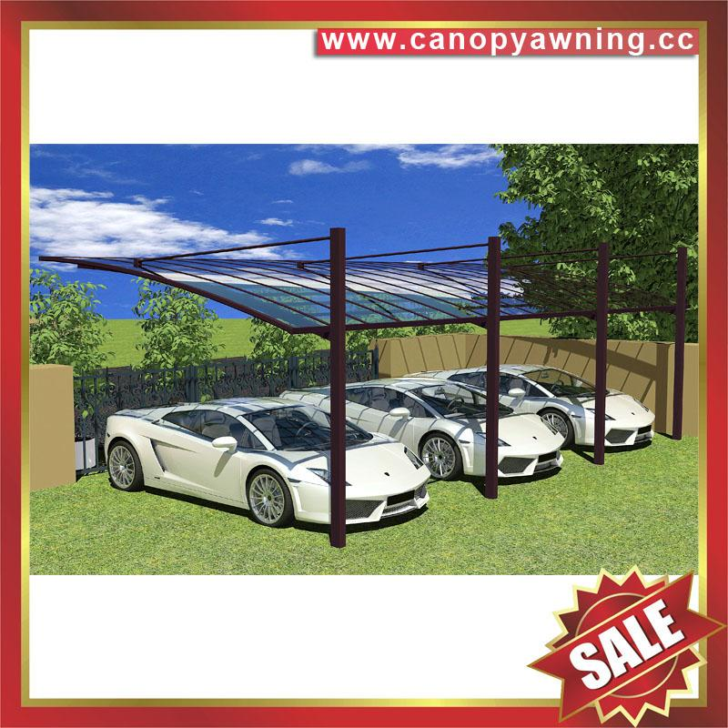 别墅公寓酒店铝制铝合金属防晒挡雨遮阳耐力板汽车棚蓬篷 2