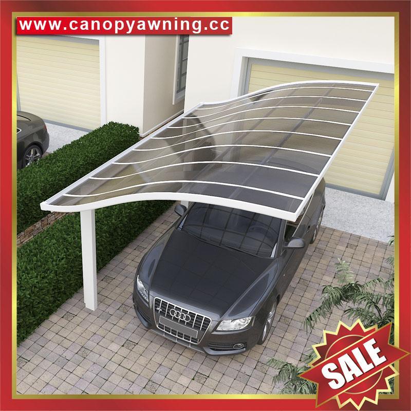 别墅公寓酒店铝制铝合金属防晒挡雨遮阳耐力板汽车棚蓬篷 3