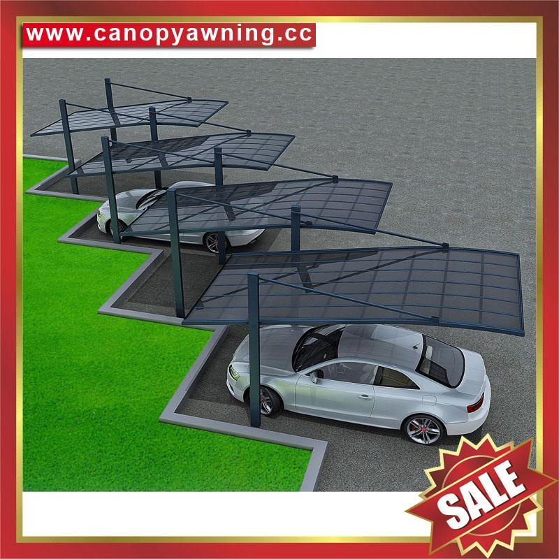 優質耐用遮陽擋雨酒店別墅PC耐力板鋁合金鋁制吊拉車棚車篷車蓬 5