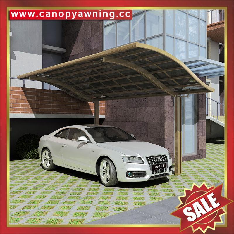 優質耐用遮陽擋雨酒店別墅PC耐力板鋁合金鋁制吊拉車棚車篷車蓬 6
