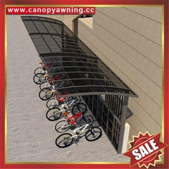 customized aluminium polycarbonate bicycle bike shelter canopy awning