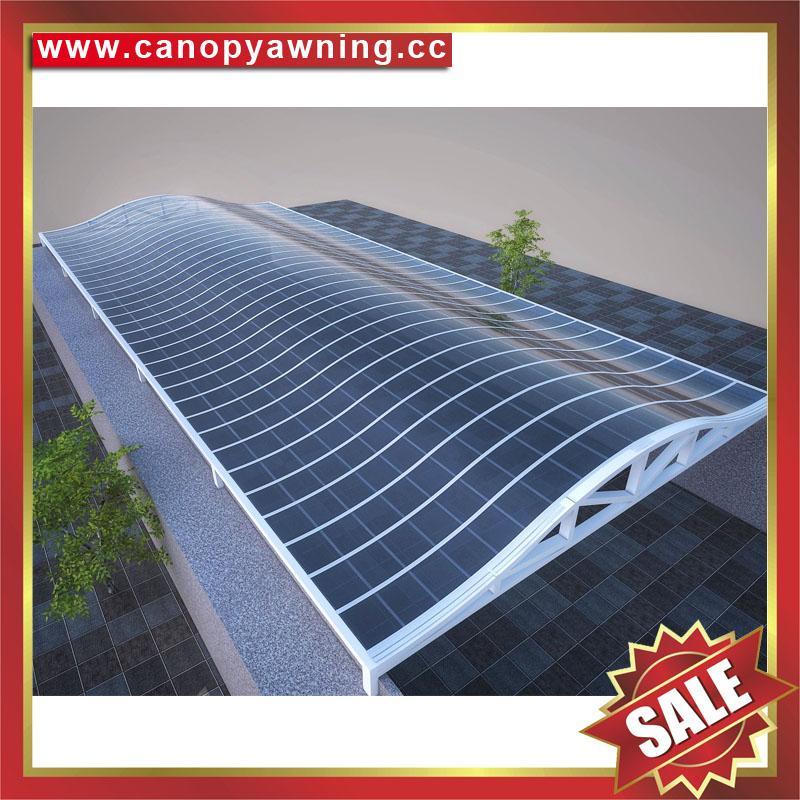 廣東優質耐用酒店別墅遮陽擋雨PC耐力板鋁合金鋁制游泳池棚蓬篷 4