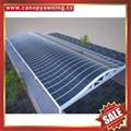 优质耐用户外遮阳挡雨PC耐力板铝合金铝制游泳池棚蓬篷厂家 2