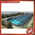 优质耐用户外遮阳挡雨PC耐力板铝合金铝制游泳池棚蓬篷厂家 4