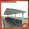 美观耐用公共大型PC耐力板铝合金摩托车棚自行车棚单车棚车篷 6
