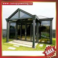 优质耐用高级定制钢化玻璃金属铝合金阳光房温室屋