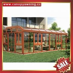 豪華別墅西式仿木玻璃鋁合金鋁制陽光房