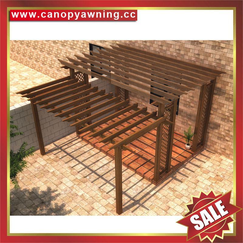 厂家直销坚固耐用古式仿木纹铝合金铝制葡萄架遮阳架 1
