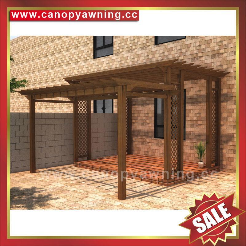 厂家直销坚固耐用古式仿木纹铝合金铝制葡萄架遮阳架 2
