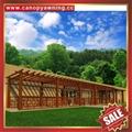 供应美观耐用公园园林仿木纹中式隔热遮阳铝合金葡萄架树藤架 6