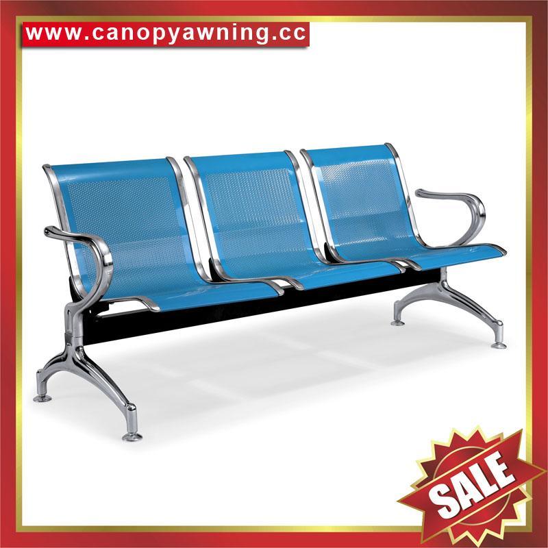 Airport Hospital Bus Waiting Room Public Waiting Three Seats Metal Chair bench 2