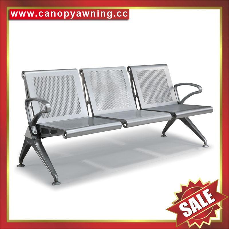 Airport Hospital Metal Waiting Room Public Waiting Three Seats armchair Chair 1