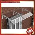 polycarbonate diy canopy awning rain sun cover with cast aluminum bracket