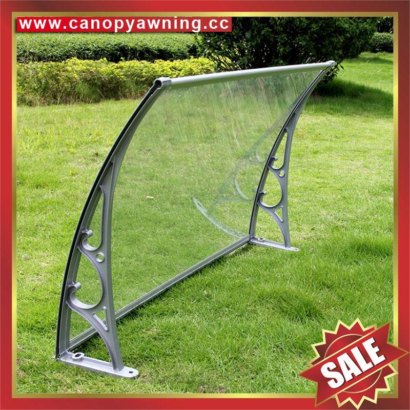 铝合金铝制遮阳门窗PC雨篷棚支架厂家 1