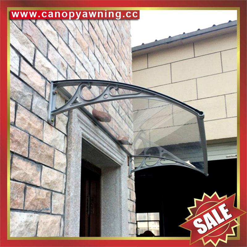 铝合金铝制遮阳门窗PC雨篷棚支架厂家 5