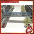 corridor walkway footway pavement polycarbonate aluminum canopy awning shelter