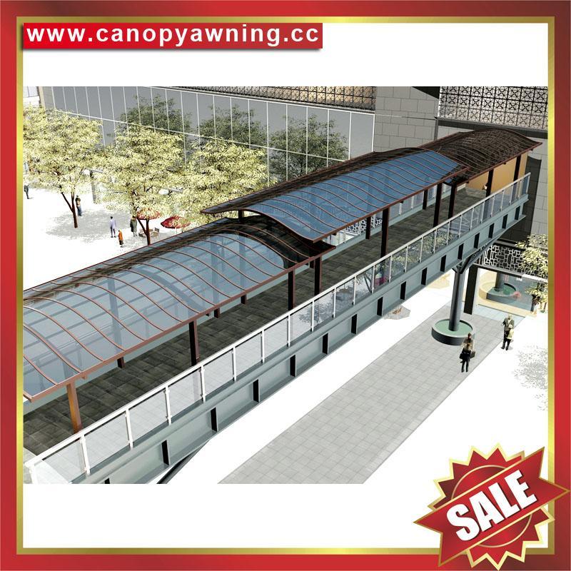 户外门廊过道走廊楼梯铝合金铝制防晒遮阳雨阳棚蓬篷 3