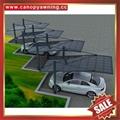outdoor sunshade alu aluminum pc polycarbonate park car canopy shelter carport