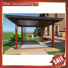 现代西式欧式新中东式铝合金铝制仿木纹露天遮阳雨棚凉亭