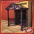中式别墅门廊露台铝合金铝制钢化玻璃遮阳雨篷蓬棚 3
