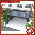 中式别墅门廊露台铝合金铝制钢化玻璃遮阳雨篷蓬棚 5