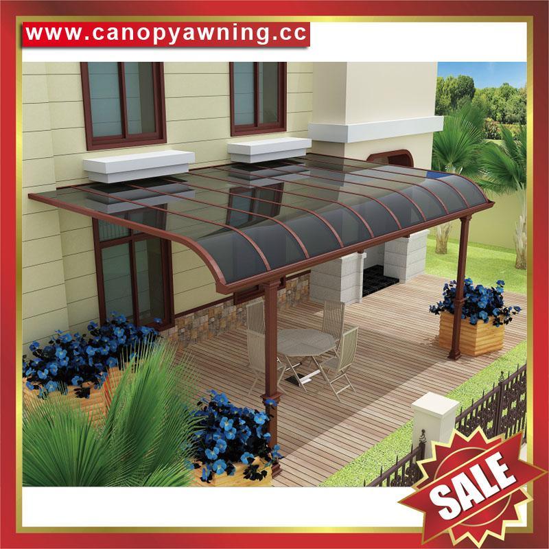 廣東佛山高級定製仿木紋鋁合金鋁制露台陽台遮陽雨篷蓬棚廠家 2