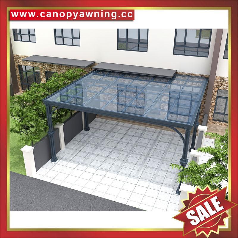 別墅花園園林戶外過道走廊鋁合金鋁制擋雨防晒雨棚雨陽篷遮陽蓬  4