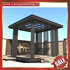 戶外別墅鋁合金鋁制金屬仿木紋木質隔熱防晒擋雨乘涼亭子
