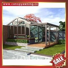 hot sale outdoor glass alu aluminum sunroom sun house conservatory cabin shed