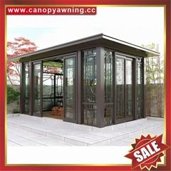 Prefabricated metal alu aluminum alloy glass sun house sunroom gazebo pavilion