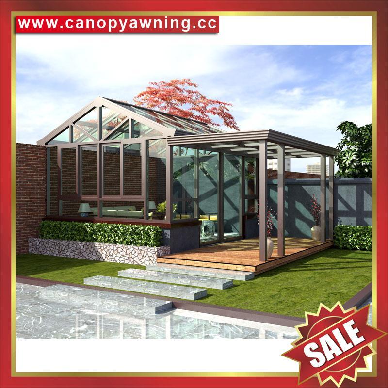 中国广东佛山优质花园公园别墅透明采光铝合金铝制玻璃阳光房 4