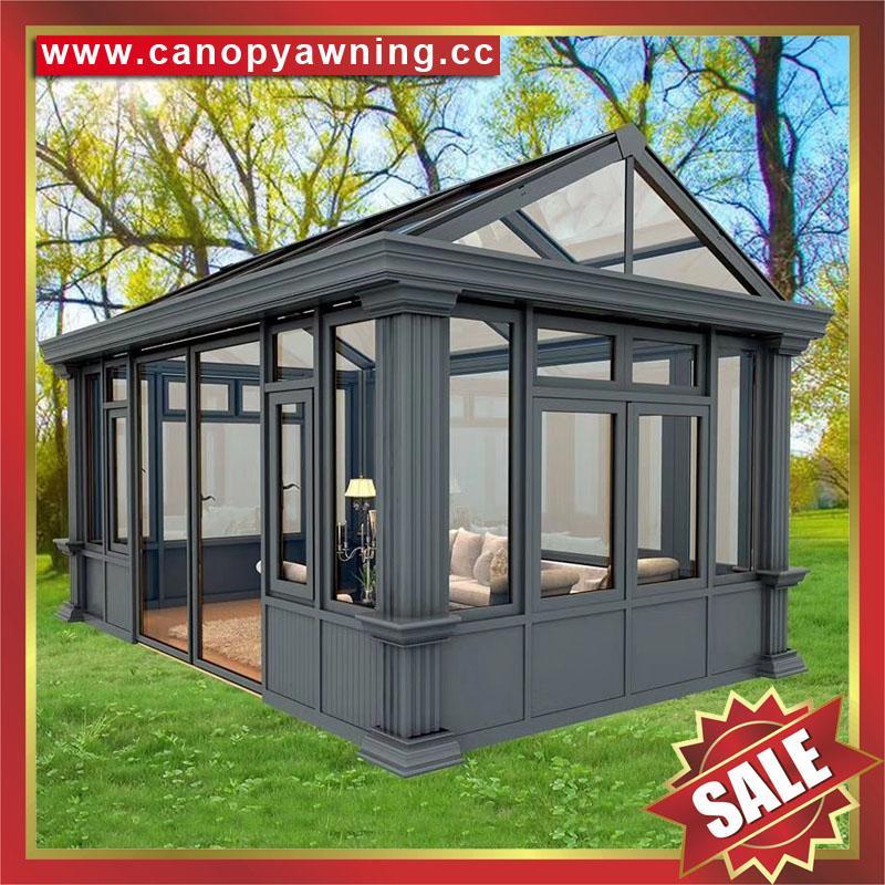 中国广东佛山优质花园公园别墅透明采光铝合金铝制玻璃阳光房 5