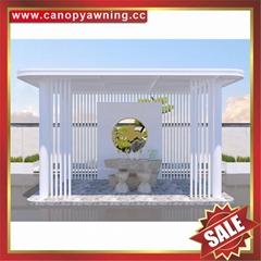 楼房小区人行道过道走廊铝合金铝制挡防晒雨阳篷遮阳蓬棚凉亭