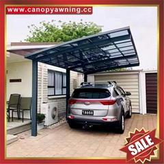 aluminum alloy alu metal pc polycarbonate carport car shelter canopy awning